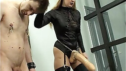 Explicit domination with domina and anal for rough strapon