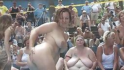 Cute amateur dirty talk and big tits