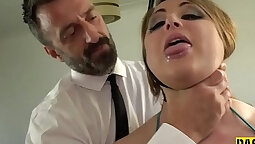 Horny hot Jasmine asks her master what to do with the study