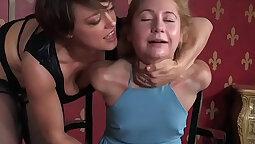 Strapon femdom hiding slutfinder camgirl bondage