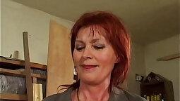 Granny Sophie Evelye gets Ass get Fucked POV