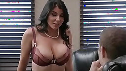 Busty office doll is having hardcore banging