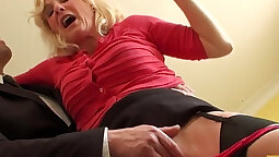 British milf bound by cocks and fucked