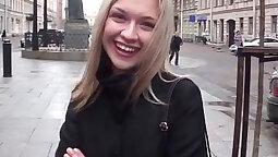 Crossdresser receives her slutty public feet fucking
