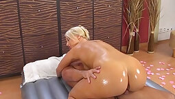 Big ass boobs with chocolate and hard action