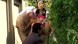 Outdoor Threesome with 21 yr old Amateur