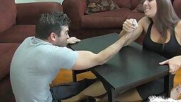 Femdom Guy Layling Peyton Hot Handjob Foot 2009
