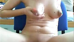 amazing tits girl with tiny nipples on webcam