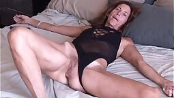 Assfucked mature amateur gives a wild hand job