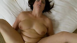 Brunette milf banged and gets anacial