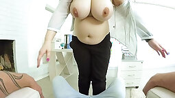 Sexy busty chubby babe fucked