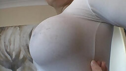 British milf Sophia with huge tits and boobs