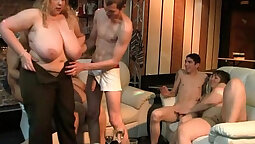 Blonde Party Fat Cock and Maledirty Cum
