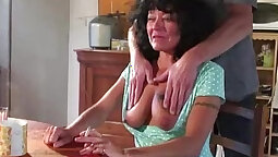 Granny first hardcore orgy with two weird wants