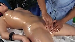 Awesome frenzied chicks are massaging each others sexy melons