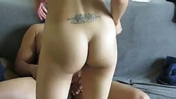 Tiny Teen Karlee Grey Fucks an Older man on Real Homemade Cam For First Time