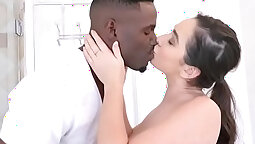 Bubble butt white girl gets my ass hole soled from behind
