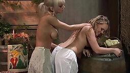 Cleaning Blonde Fat Divine Lesbians