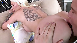 Amazing natural beauty spreads her ass cheeks