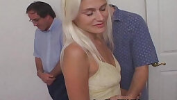 Blonde housewife cuckolds her big boner with a limousine driver