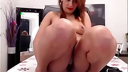 Smoking hot babe is bending over and pissing