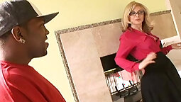 blonde that loves her black cock is getting teased in her cunt