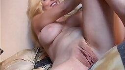 Down to her knees and pounded hard anally in wanking ways jerking her pussy