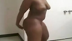 black lover gets naked greedily on stairs and sits on guys ass