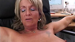 Blonde Secretary Claudia Zen Tries Anal At The Office