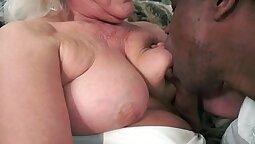 Granny Dildoing Big Black Cock