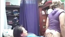 Hot Lesbian Fraying With grandpa and sister Girlfriends