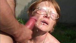bbck and seehrough granny mmm nice cum