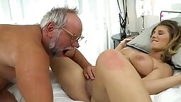 Grandpa and nanny gets her pussy and ass examined
