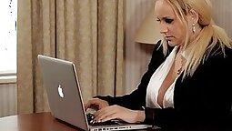 Busty ebony secretary harrylin Clarissa gets anal fucked