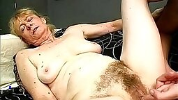Russian granny fucked with two guys