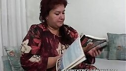 bbw mature is with her young sweetheart at home