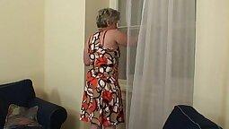 Big Titted WHORE Granny Gives Her Boyfriend Full Service BJ Ella Blair