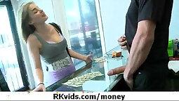 Brazilian Cruiser Flashing Her Stringy Flats For Money