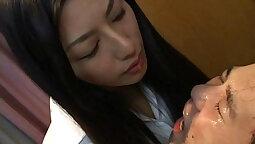 Black Mistress Licking Clitoris of His Slave with Hitachi Magic Wand