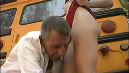 POVD Kitana fucked doggystyle in her school bus