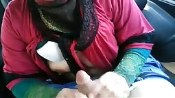 Turkish mature woman lees a-hole restrained by BBC