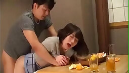 Honglini nervous wife has a laid man drink