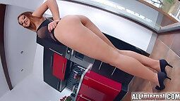 Redhead euro from Creampie