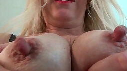 Blonde MILF Fucked In Mall Rubbing Her Clit on Couch