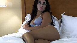 Amazing body brunette Reena Devine gets her wet pussy stuffed