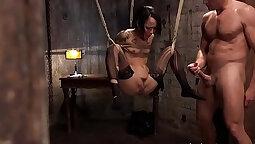 Black sex slave bitch Lion Joelle got a ass full