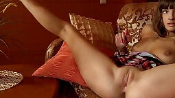 Young Asian Beauty Rubbing and Playing