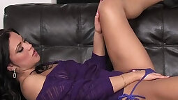 Dildo Strips in Ass And Pussy