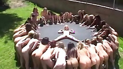 Awesome Girl Pisses At Lesbian Party