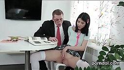 Schoolgirls and Teachers Nail Each OtherPussy Sucking Tagteamed